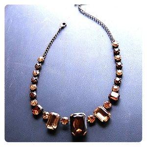 Rectangle/Round SWAROVSKI Crystal Necklace